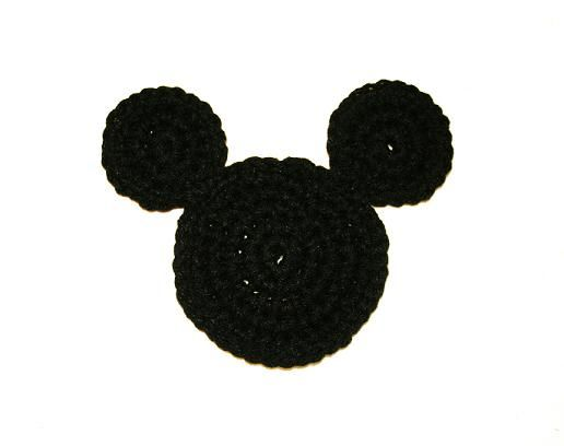 Tampa Bay Crochet: Mickey Mouse Ears Coaster Free Crochet Pattern -done :D Maybe I can use this pattern to make cute headband for my niece!?!?