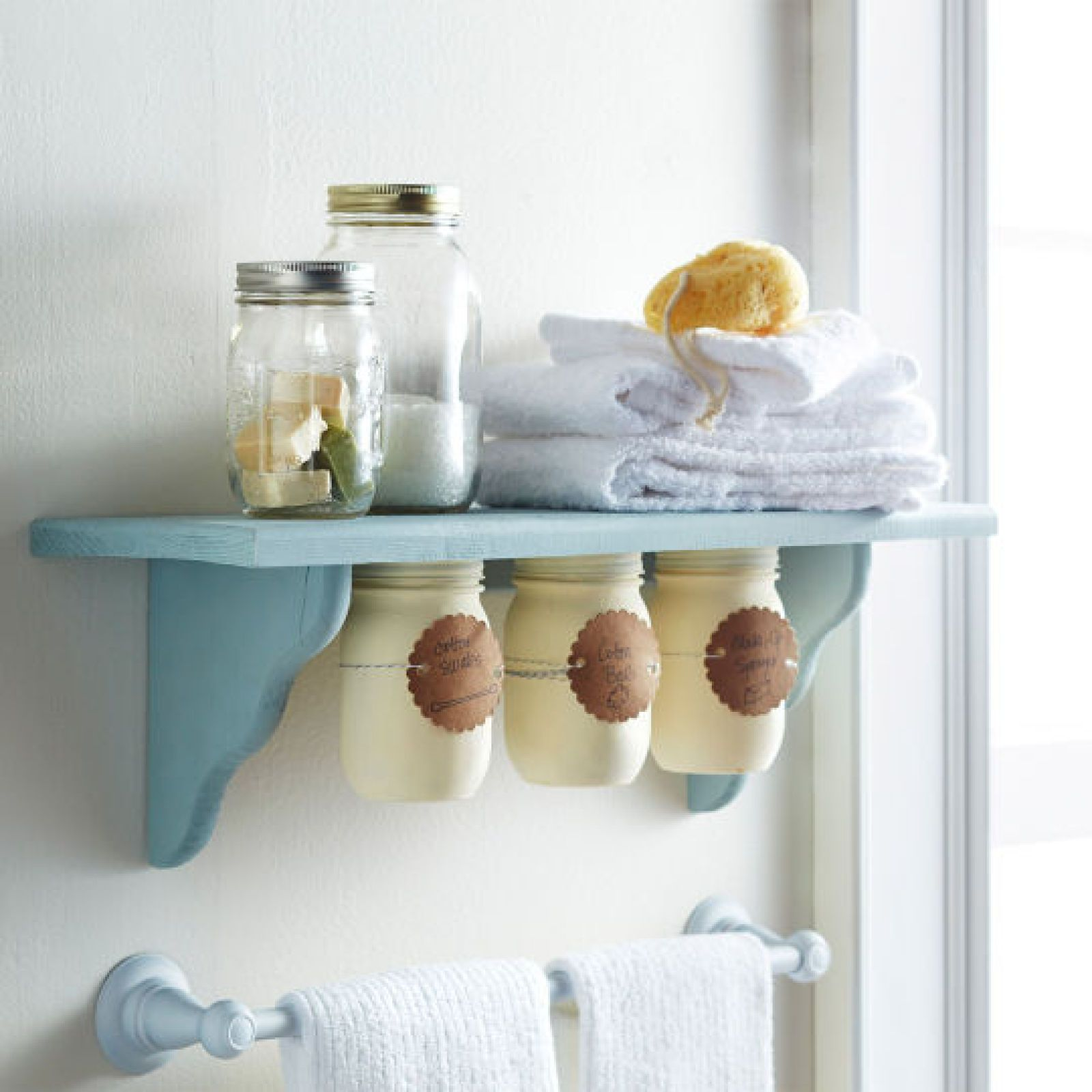 Under Shelf Mason Jar Storage Get Organized Organize It