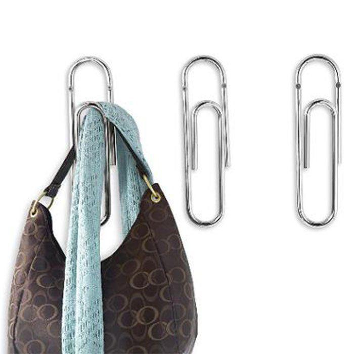 Bendo Luxe Paper Clip Coat Hook Black Copper Chrome Diy Clothes Rack Clothes Hanger Hooks Coat Hooks