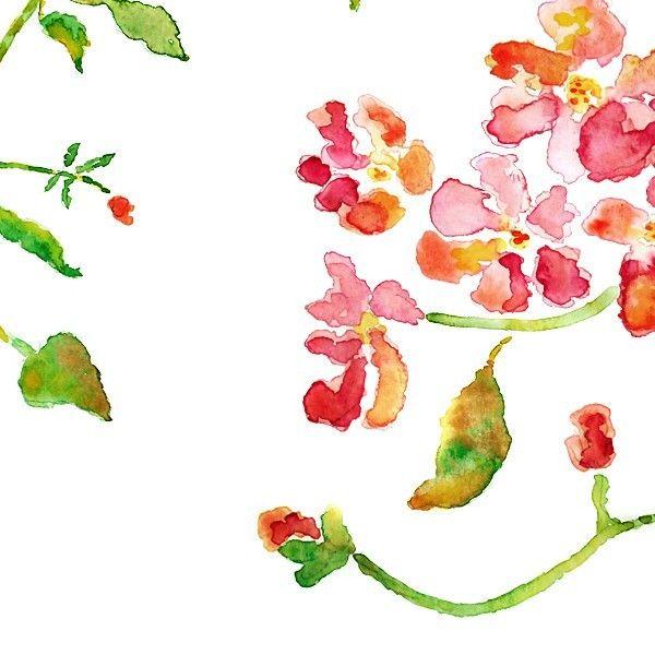Flower painting, pink, watercolor wall decor, art print, floral print - Magenta Sunshine - 8x10. $15.00, via Etsy.