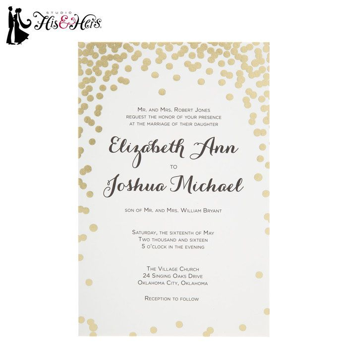 Gold Dot Wedding Invitations In 2019 Odes Wedding Hobby