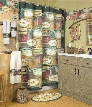 Perfect Domestic Bin Is A Leading Online Retailer Of Gone Fishing Bathroom Wall  Coverings, Bathroom Decor