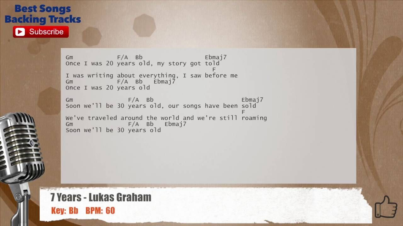 7 years lukas graham vocal backing track with chords and lyrics 7 years lukas graham vocal backing track with chords and lyrics hexwebz Gallery