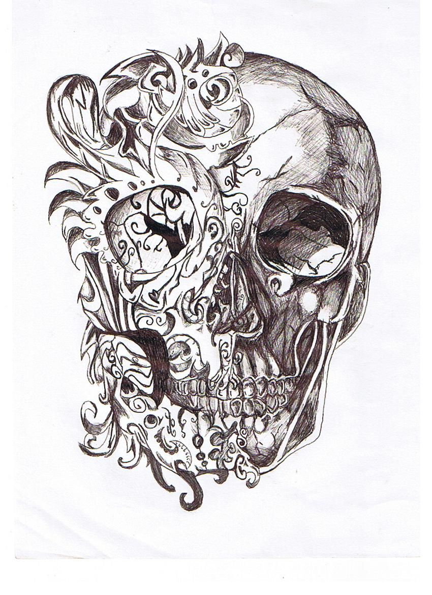 Imagen relacionada  Diseo de tatuaje de calavera  Pinterest
