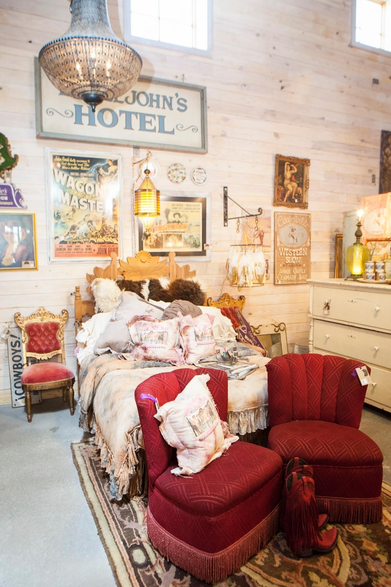 Junk Gypsies romantic cowgirl section of store | Junk ...