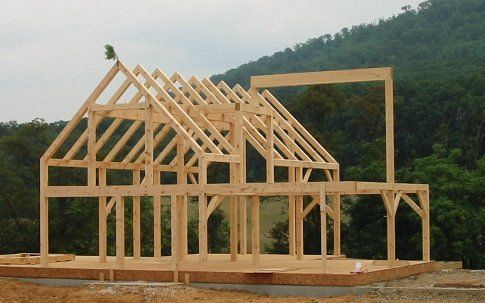 timberframe house design with timber frame construction - Wood Frame House