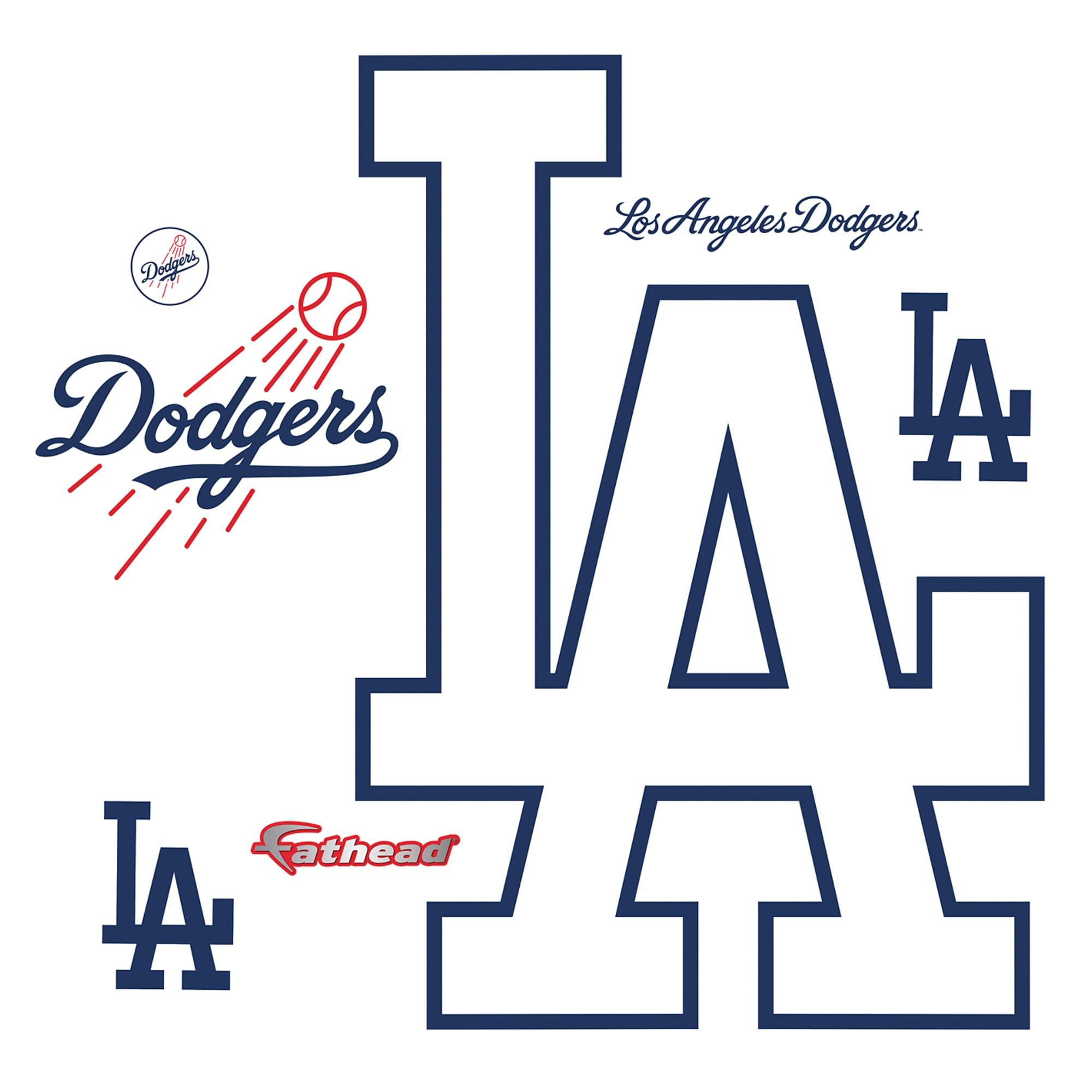 Los Angeles Dodgers Alternate Logo Giant Officially Licensed Mlb Removable Wall Decal Dodgers Los Angeles Dodgers Logo La Dodgers Logo