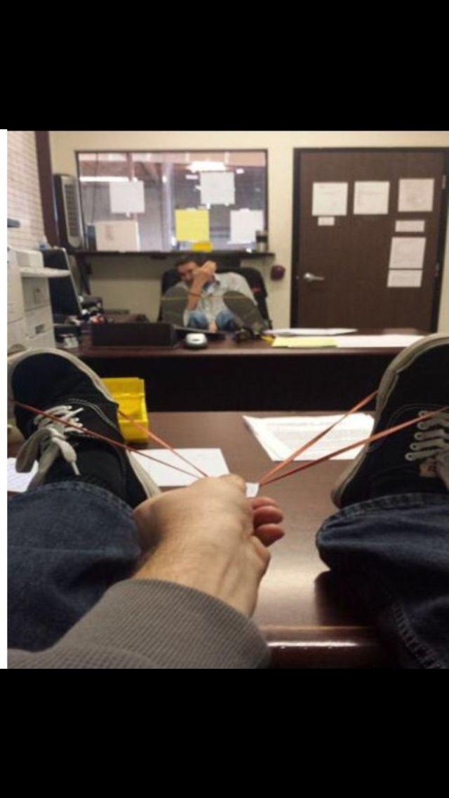 Langeweile Im Büro Spiel