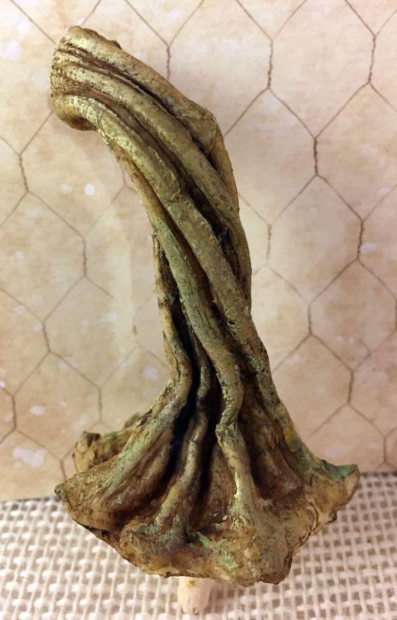 1 Pumpkin Stems One MEDIUM Resin Stem Like Real Dried Pumpkin Stems for Velvet