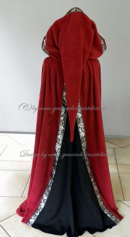 mittelalter mittelalter cape umhang mantel unisex ein designerst ck von gewandungsatelier. Black Bedroom Furniture Sets. Home Design Ideas