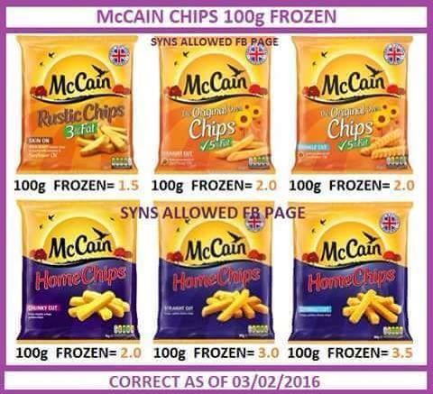 Mccain Frozen Chips In 2020 Slimming World Tips Aldi