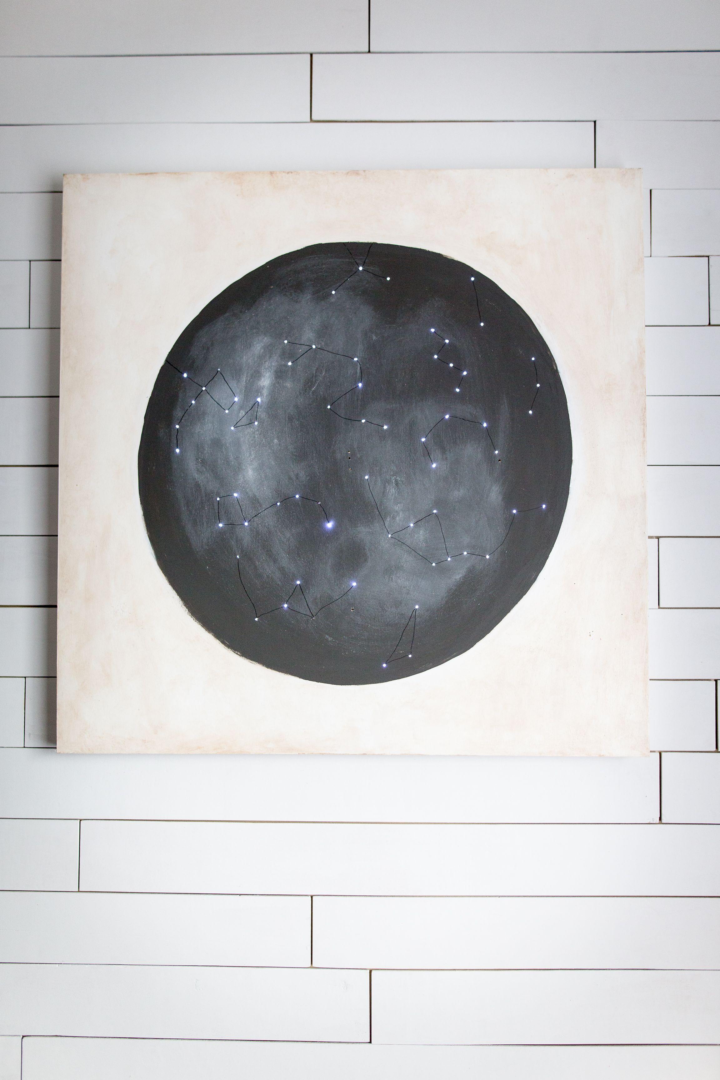 Diy Twinkle Light Constellation Map Art Constellation Map Art Constellation Art Art