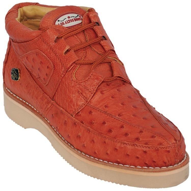 d4130e7d089 Los Altos Cognac Ostrich Casual Chukka Boot ZA060303 | Hoe cakes in ...