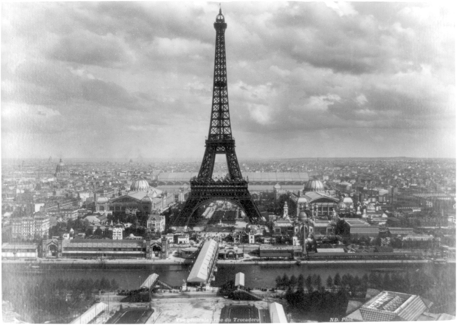 Eiffel Tower 1889 Paris Black And WhiteGustave EiffelFrench