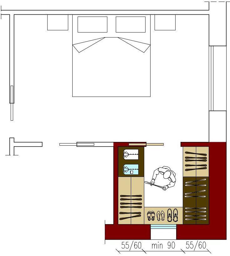 Misure Per Cabina Armadio.Dimensioni Cabina Armadio A C Su 3 Lati Spalne Bedrooms