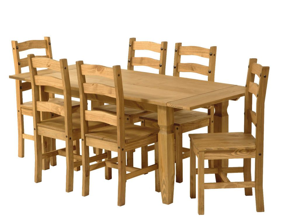 Drop Leaf Extending Dining Table 6 Chairs Premium Corona