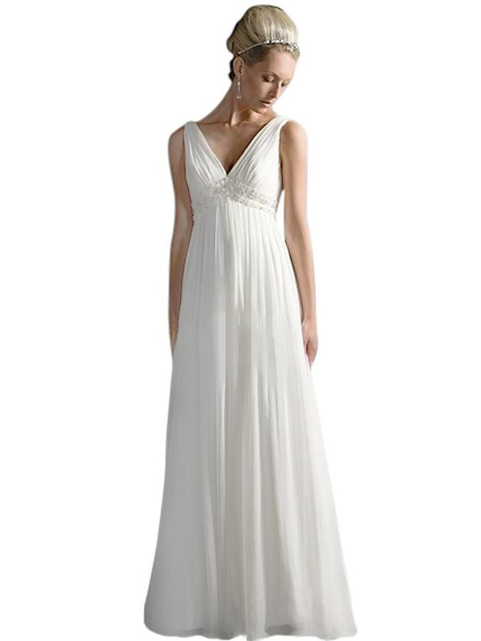 high street v neck wedding dress uk