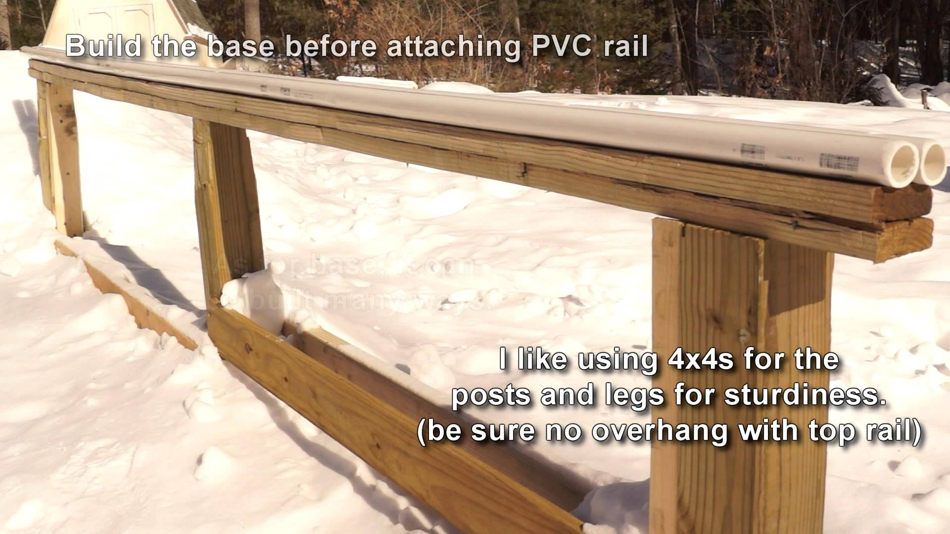 Diy Pvc Terrain Park Rail Easy To Make And So Much Fun To Use In The Backyard To Practice Your Rail Slides Before Taking It To Ski Park Pvc Railing Backyard
