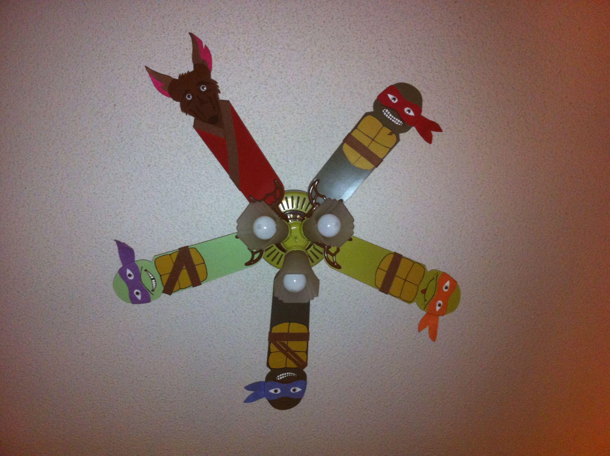 Ninja turtle ceiling fanw that is cool ninja turtle
