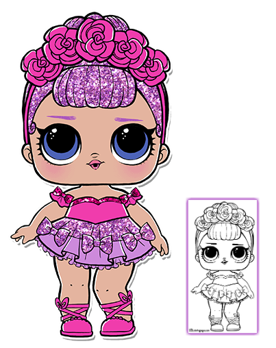 Lol Surprise Doll Coloring Pages Page 2 Color Your Favorite Lol Surprise Doll Lol Dolls Coloring Pages Dolls