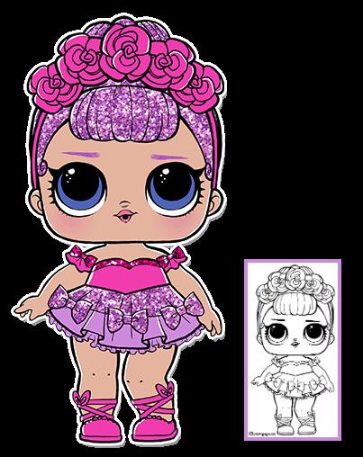 Lol Surprise Doll Coloring Pages Page 2 Color Your Favorite Lol Surprise Doll Lol Dolls Coloring Pages Dolls