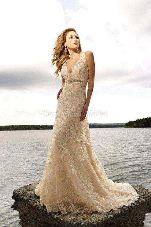 Bodenlanges bescheidenes Brautkleid ohne Ärmeln mit Empire Taille