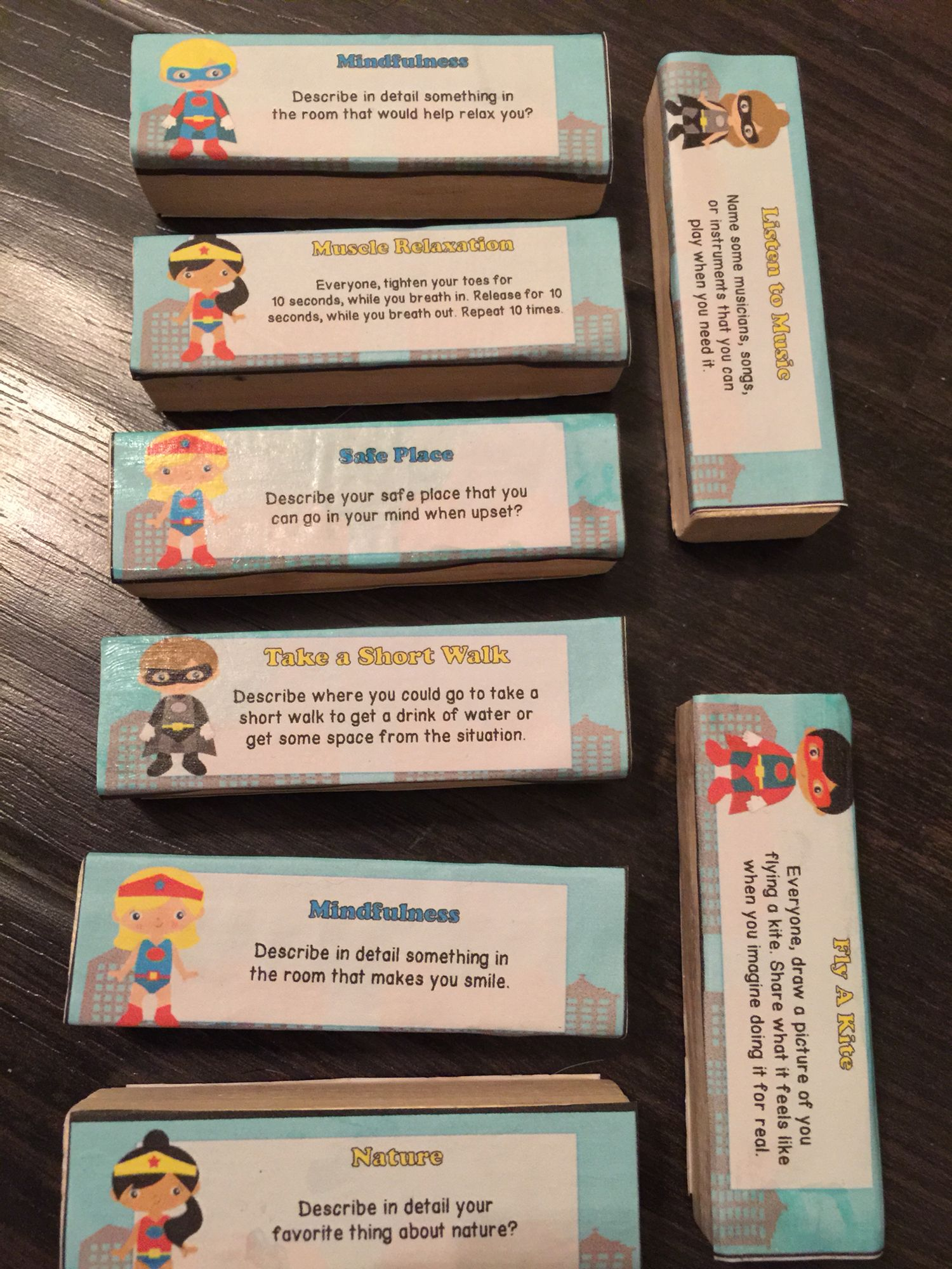 Mindfulness Coping Skills to use with Jenga® Game Coping