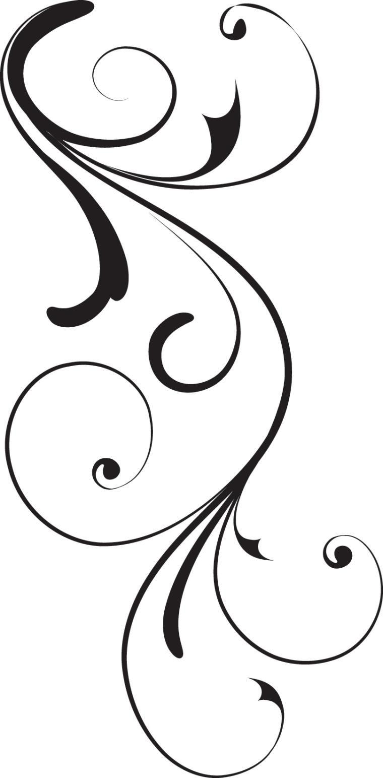 Swirl corner black design royalty free stock vector art