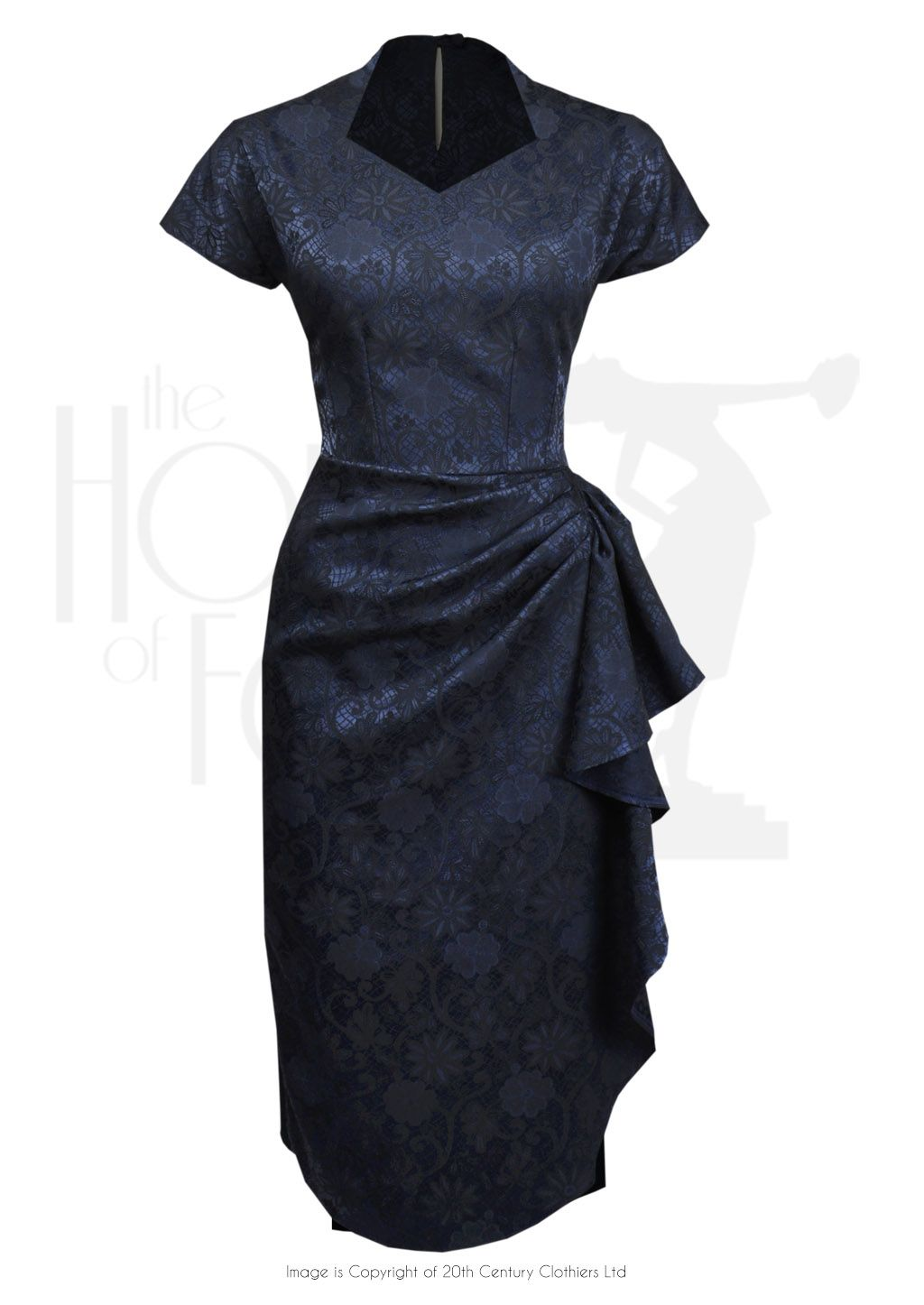 S hayworth evening dress brocade ladiesu fashion pinterest