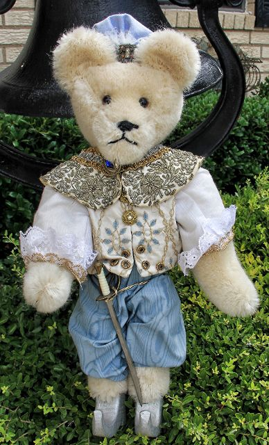 Prince Charming Bear--string mohair bear