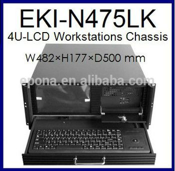 4u Lcd Workstations Compact Server Case Rackmount Chassis Industrial Pc Case Eki N475lk Pc Cases Workstation Lcd