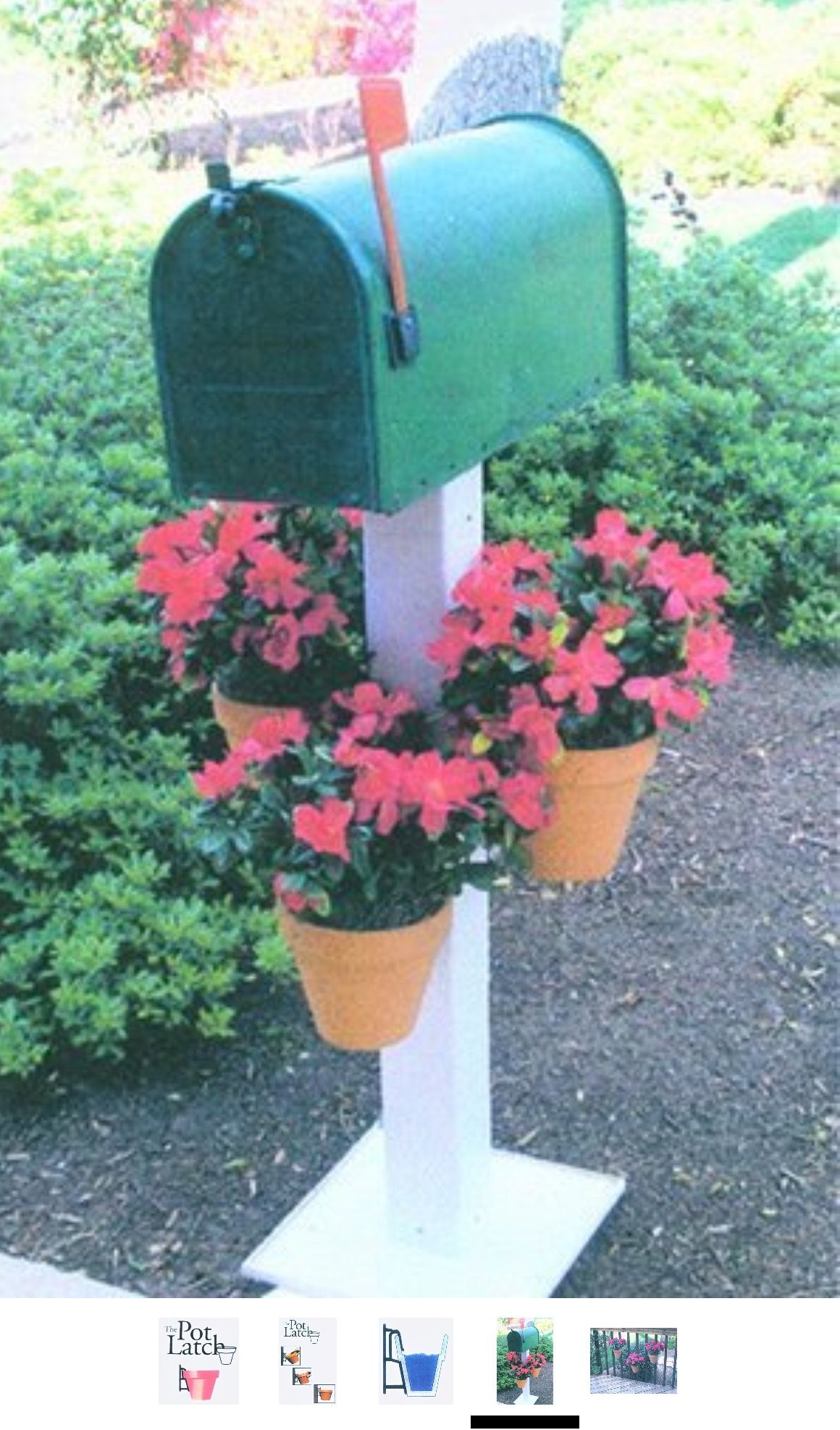 Idea For Birdhouse Posts Mailbox Post With Terra Cotta Flower Pots Attached To