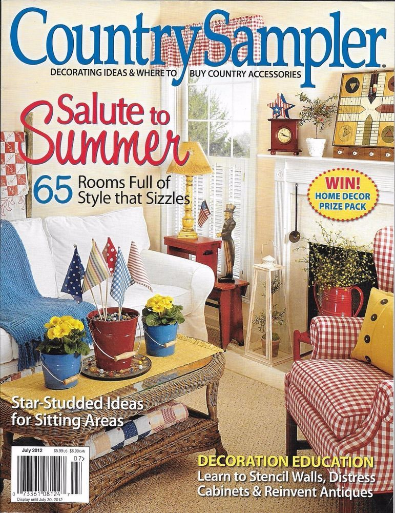 Country Sampler magazine Summer rooms Sitting areas Stencil ...