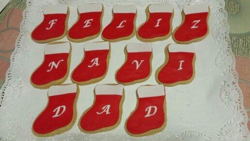Calcetines de galleta que forman un mensaje!! Feliz Navidad!