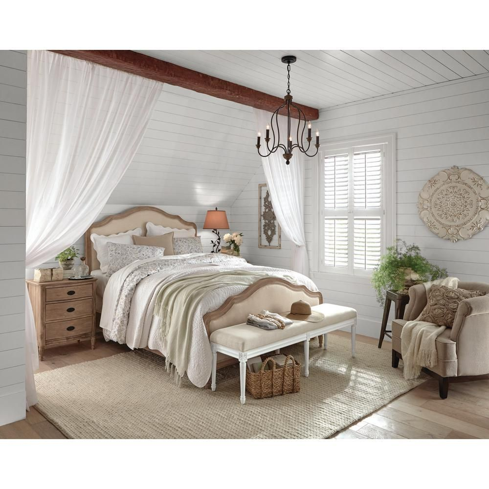 Home Decorators Collection Wellington Stone Wash Queen Bed 9529900930 The Home Depot Rustic Master Bedroom Farmhouse Style Master Bedroom Bedroom Design