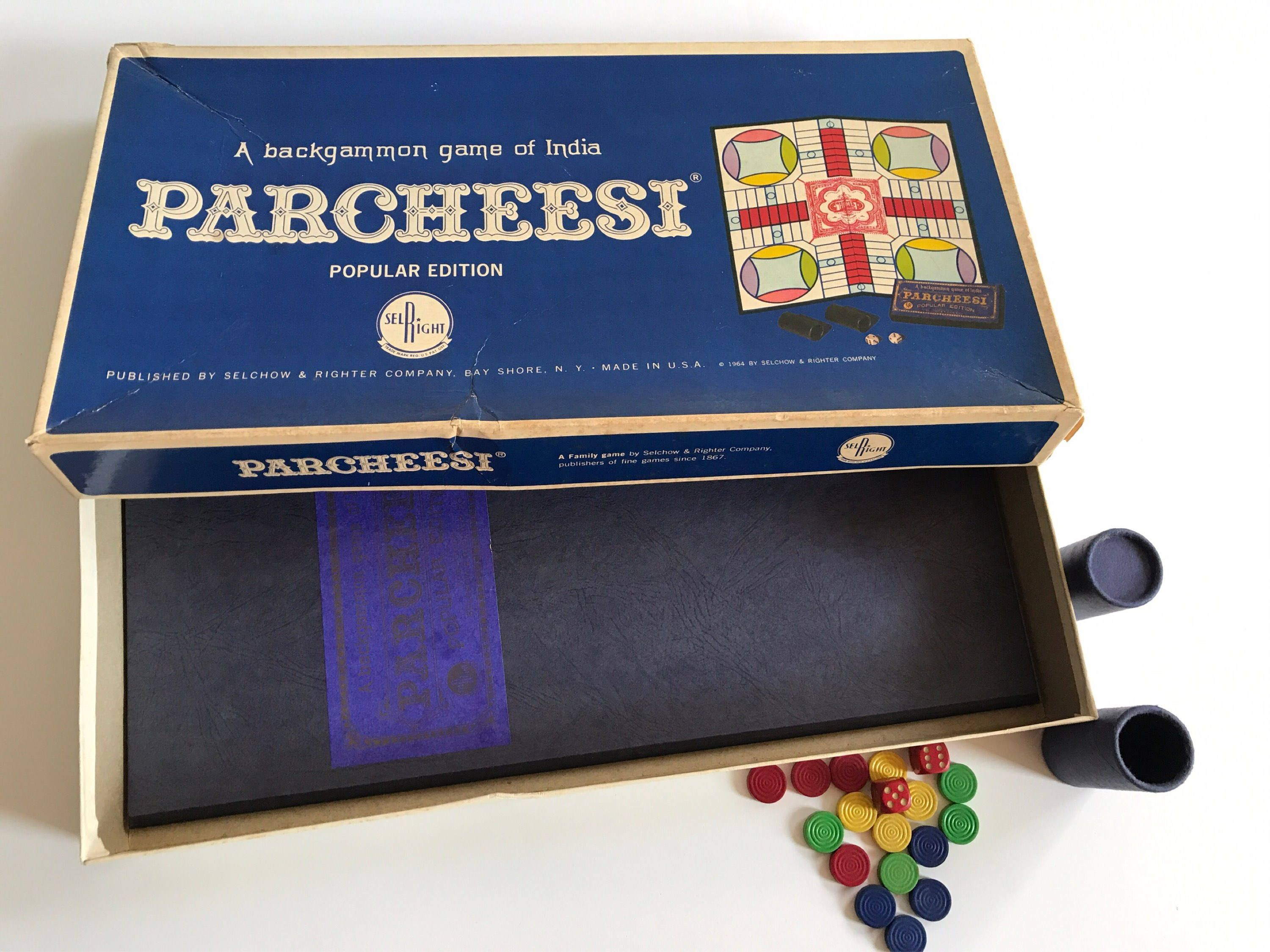 PARCHEESI Board Game Backgammon of India SelRight Salchow & Righter