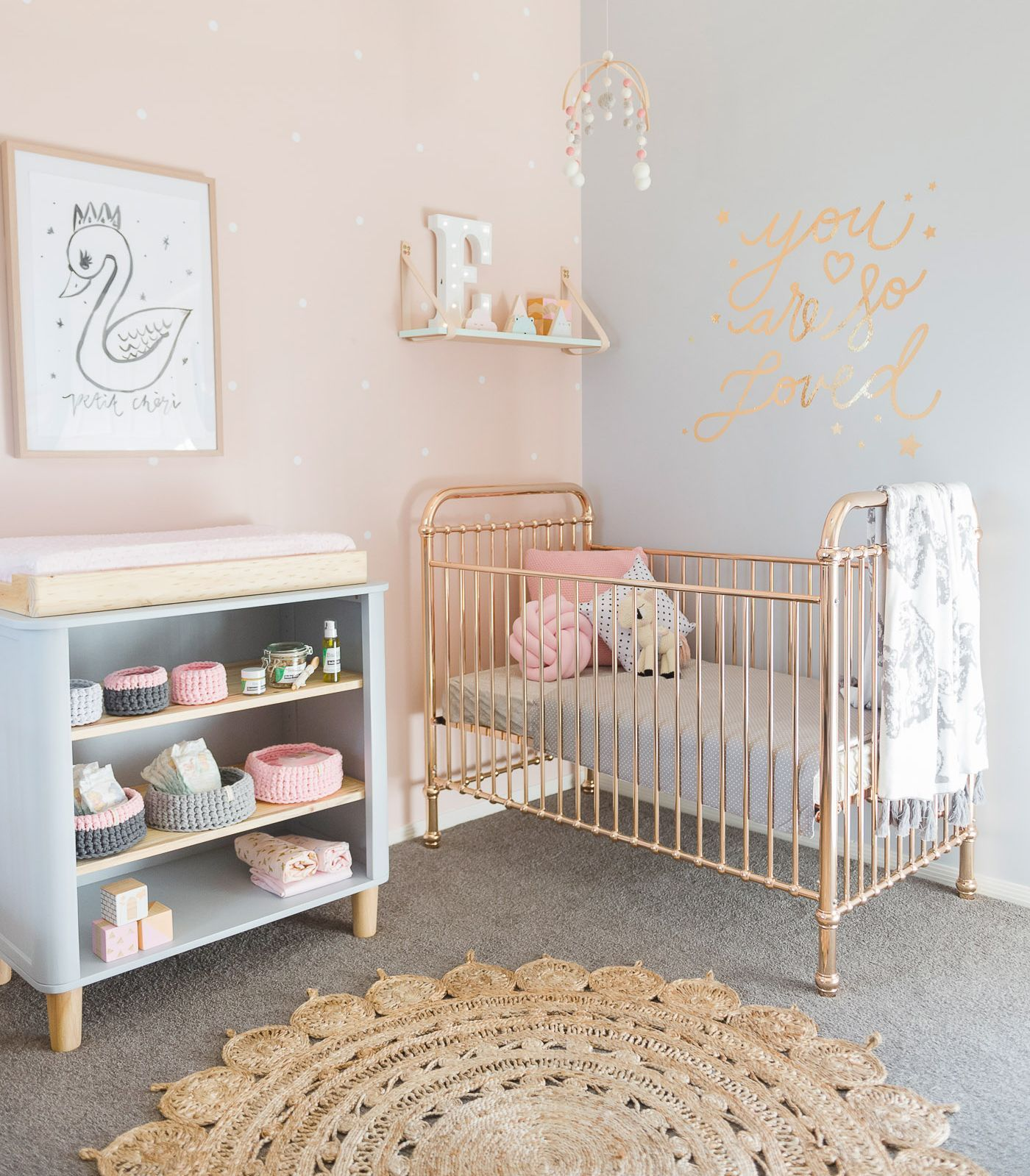 5 of the most prettiest cribs | Incy Interiors Ellie rose gold crib |  gomommygo.