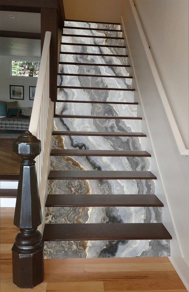 Customize Stair Mural Staircase Railing Design Marble Stairs Home Stairs Design