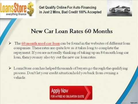 Used Car Loan Rates 60 Months Car Loans Loan Rates Car Finance
