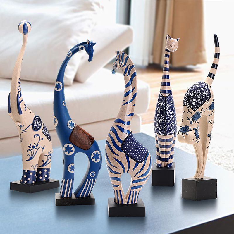 Fashion Resin Craft Home Decoration  Zebra Elephant Deer Cat 5 Kinds Brief Modern Living Room Decoration  (800×800) | Pinterest | Handmade Items, ... Part 53