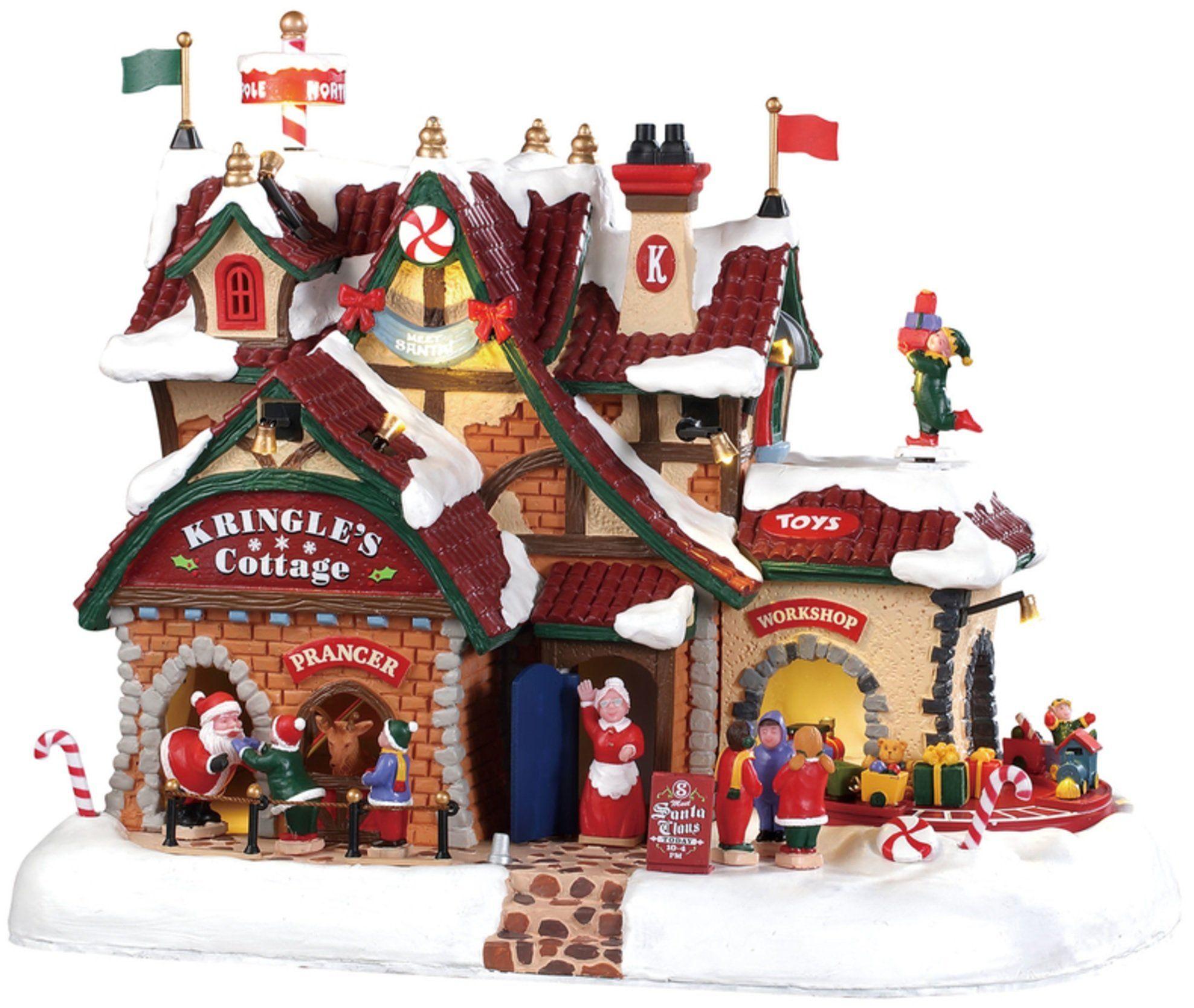 Lemax 2021 Christmas Village House Lemax 95462 Kringle S Cottage Christmas Village Building Multicolored In 2021 Lemax Christmas Village Lemax Christmas Christmas Village Collections