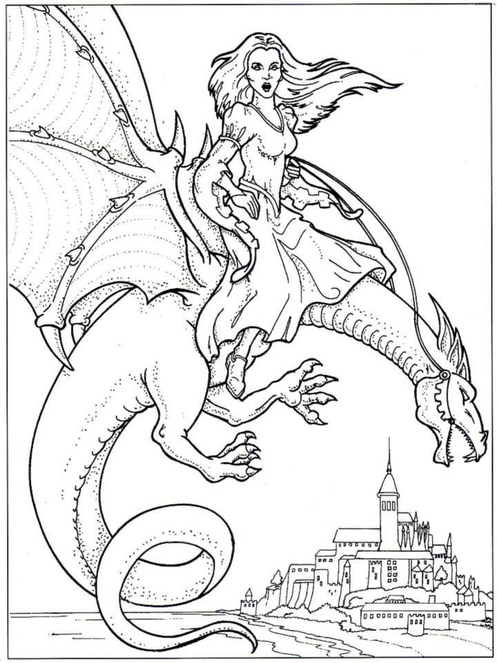 Water Dragon Colouring In on a budget