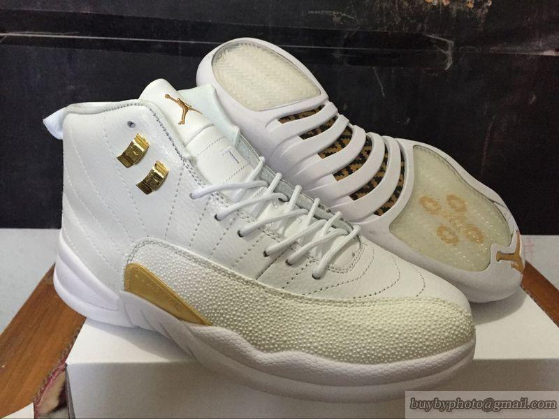 39bdd8fb4f6b15 Men s Air Jordan 12 AJ12 Jordan 12 Basketball Shoes OVO Sample White Gold  Air  Jordan 12  Basketball Shoes  Jordan  popular