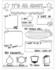 picture about All About Me Free Printable Worksheet identify All regarding me questionnaire rylees star of the 7 days All