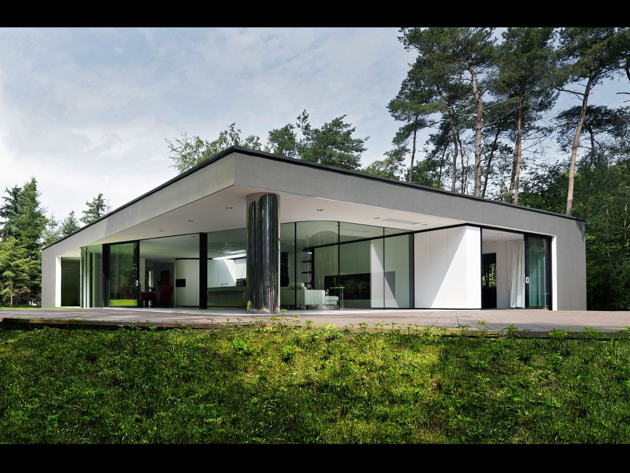 Dutch Architecture Firm Recently Completed This Modern Villa Called Veth In Hattem Netherlands Its About Square Feet On A Bit Under