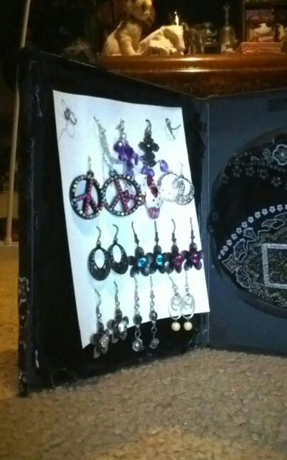 Small earring holder in dvd case | Arts & Crafts ...
