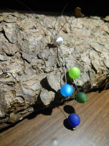 Neu unikat blau gruen Y Polaris kette Halskette Collier