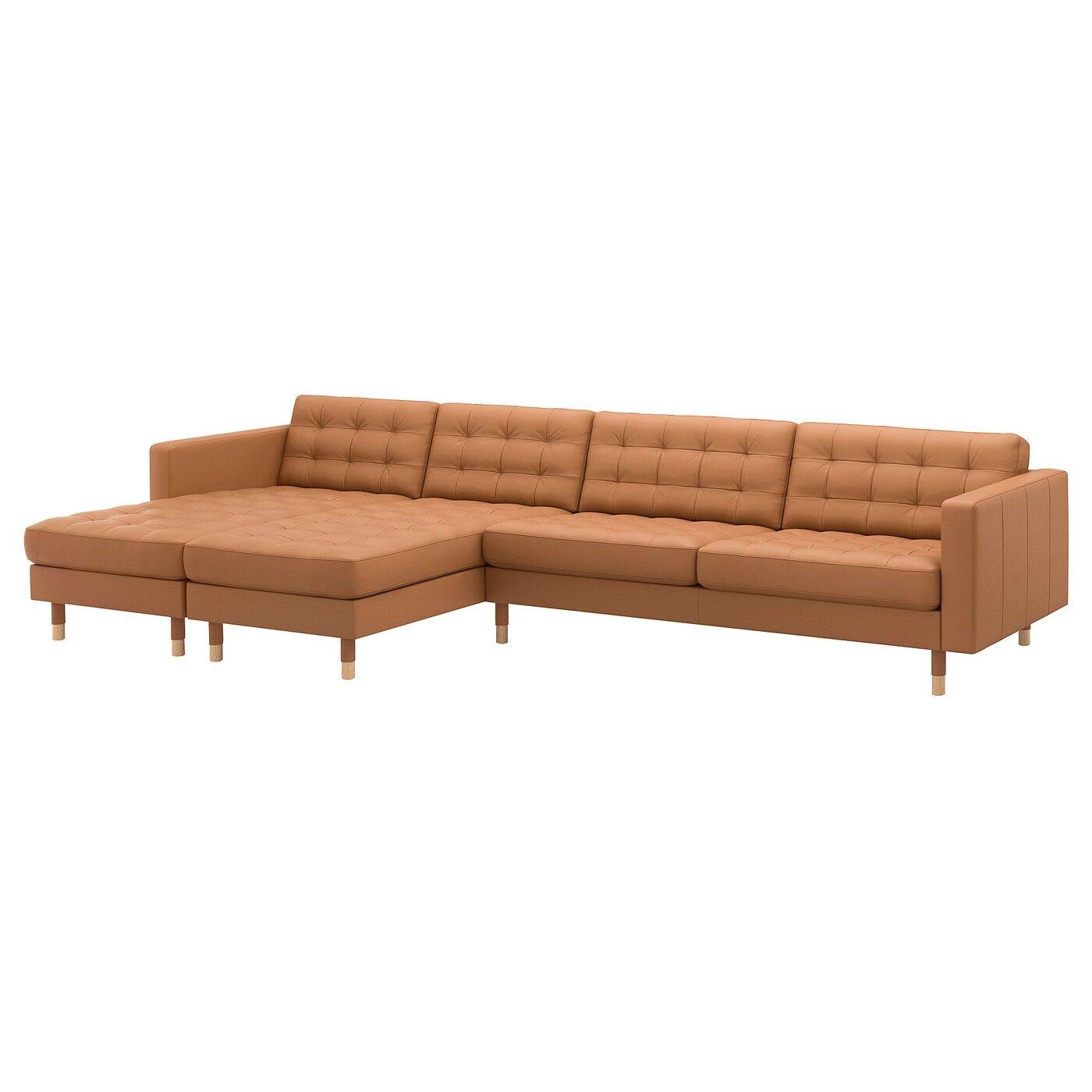 Landskrona IKEA Leather coated Fabric Corner Sofas,   KF   Sofa ...