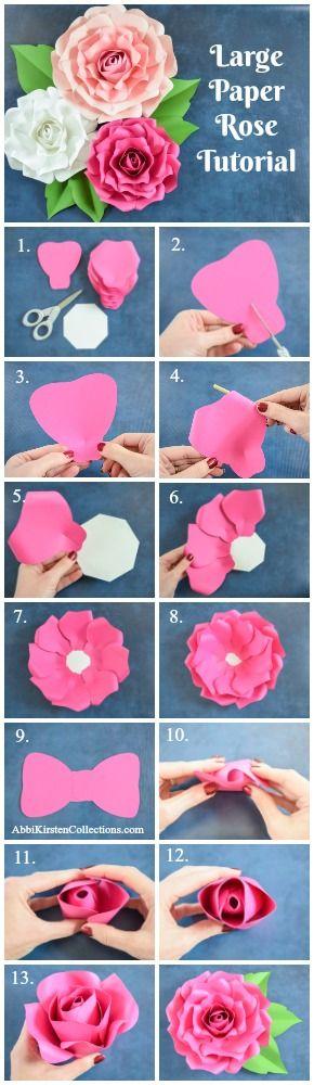 Diy paper flower alora garden rose tutorial tutorial video mightylinksfo