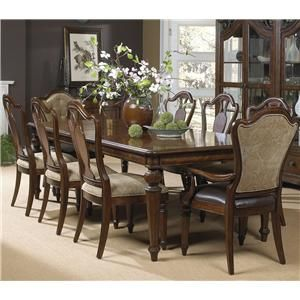 Highlands Rectangular Dining Table W 2 Arm And 6 Side Chairs By Fine Furniture Design